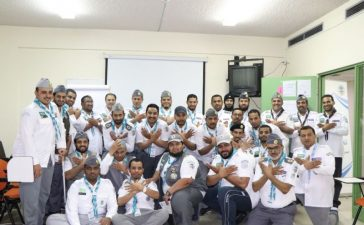 عبد الله الفهد في استضافة دارسي مفوض تنمية القيادات