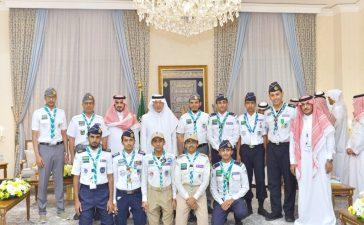 استقبال الأمير خالد الفيصل المشرف على معسكرات الخدمة العامة