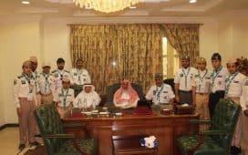 استقبال مفتي عام المملكة أفراد الكشافة المتطوعين لخدمة الحجاج