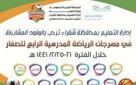 إدارة تعليم الشقراء تستضيف مهرجان الرياضة المدرسية الرابع للصغار