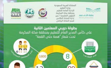 تعليم مكة تطلق بطولة دوري المعلمين الثانية