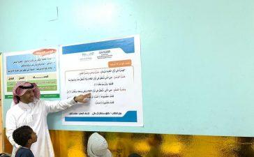 """إدارة الأفلاج تتابع تنفيذ مبادرة """"عشر دقائق للقراءة والكتابة"""" في 33 مدرسة"""