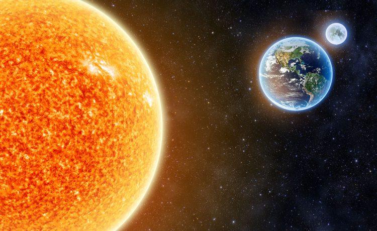 ينتج عن دوران الارض حول محورها وحول الشمس