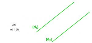 بحث عن اثبات توازي مستقيمين
